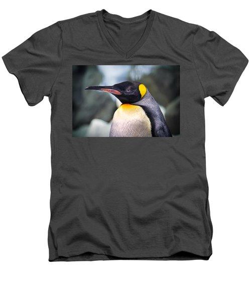 Emperor Penguin Men's V-Neck T-Shirt by Kym Clarke