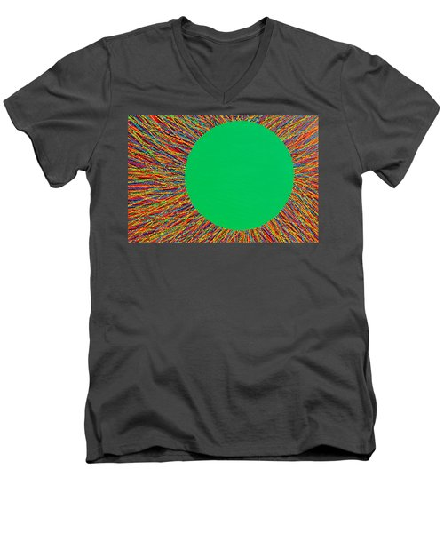 Men's V-Neck T-Shirt featuring the painting Empty Cup 1 by Kyung Hee Hogg