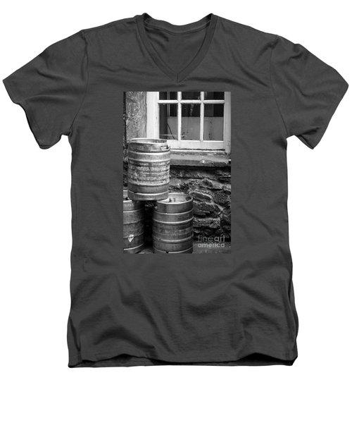 Empty In Edinburgh Men's V-Neck T-Shirt by Amy Fearn