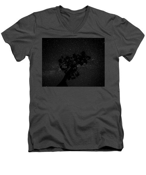 Empty Night Tree Men's V-Neck T-Shirt