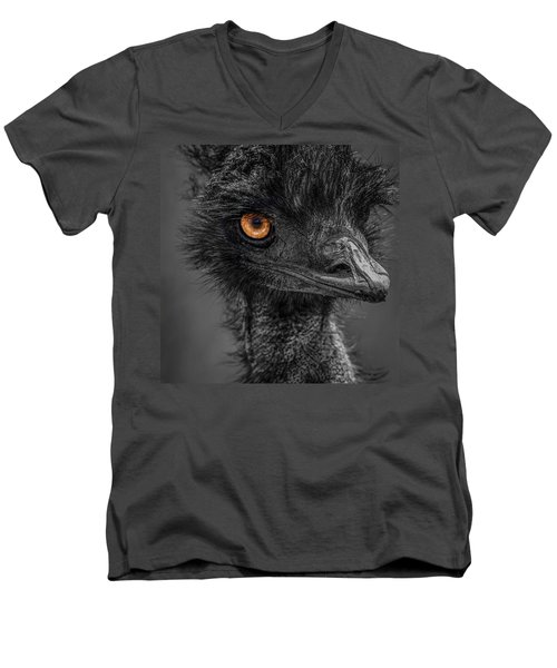 Emu Men's V-Neck T-Shirt by Paul Freidlund