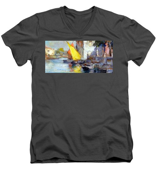 En Plein Air In Venice Men's V-Neck T-Shirt