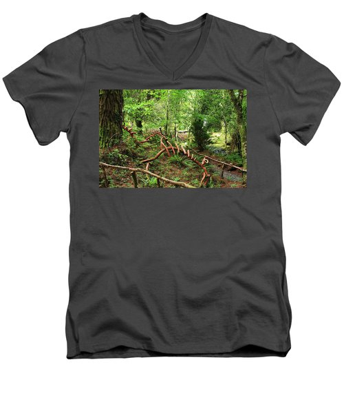 Men's V-Neck T-Shirt featuring the photograph Enchanted Forest by Aidan Moran