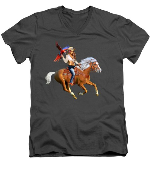Enchanted Jungle Rider Men's V-Neck T-Shirt