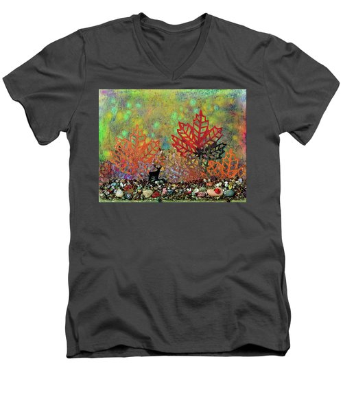 Enchanted Pathways Men's V-Neck T-Shirt by Donna Blackhall