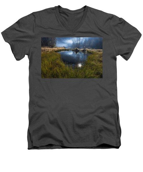 Enchanted Pond Men's V-Neck T-Shirt