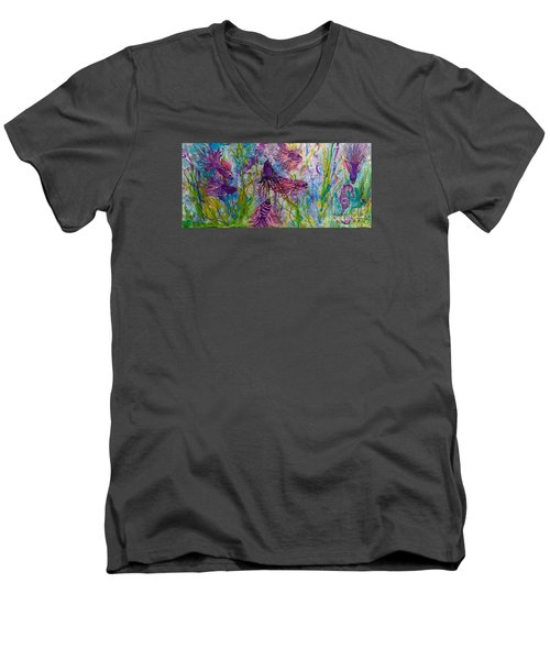 Enchanted Sealife Party Men's V-Neck T-Shirt