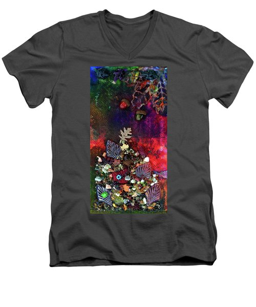 Enchanted Twilight Men's V-Neck T-Shirt by Donna Blackhall