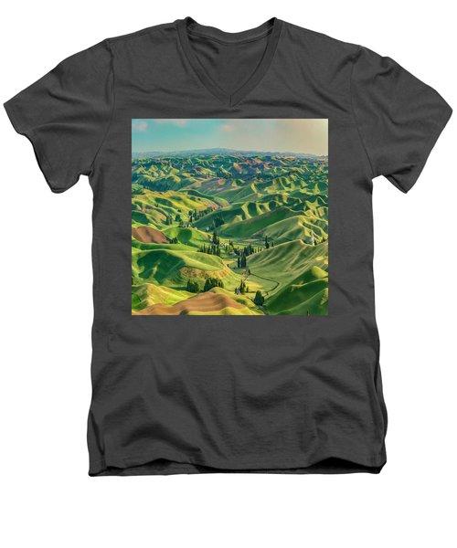 Enchanted Valley Award Winner Men's V-Neck T-Shirt
