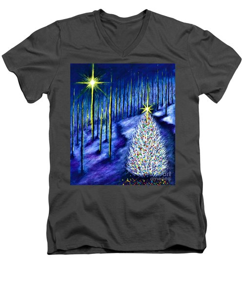 Enchanted Woods  Men's V-Neck T-Shirt