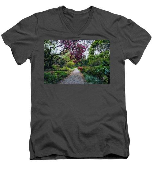 Enchanting Garden Men's V-Neck T-Shirt