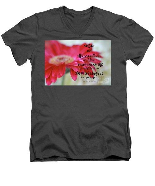 Encouragement Men's V-Neck T-Shirt