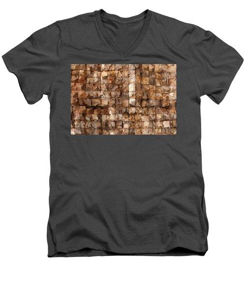 End Grain 132 Men's V-Neck T-Shirt