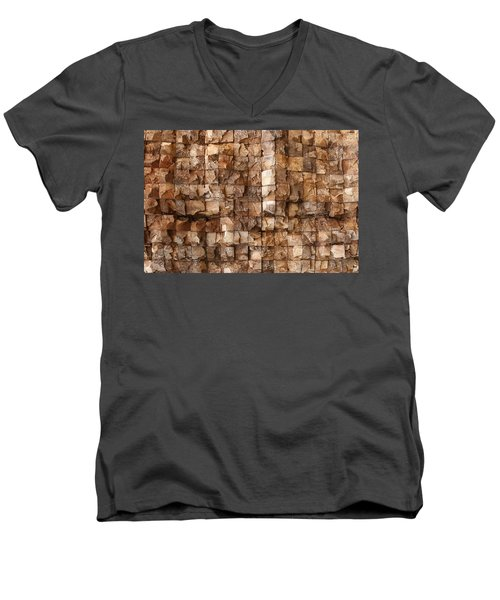 End Grain 132 Men's V-Neck T-Shirt