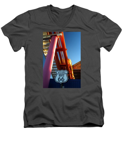 End Of Route 66 2 Men's V-Neck T-Shirt