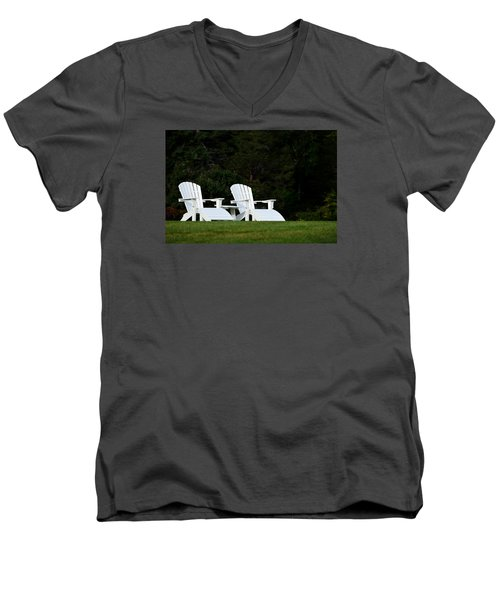Men's V-Neck T-Shirt featuring the photograph End Of Season I by Richard Ortolano
