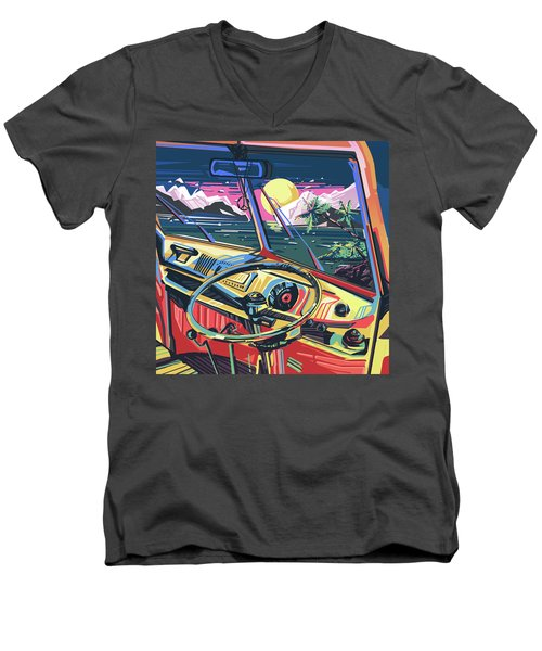 End Of Summer Men's V-Neck T-Shirt by Bekim Art