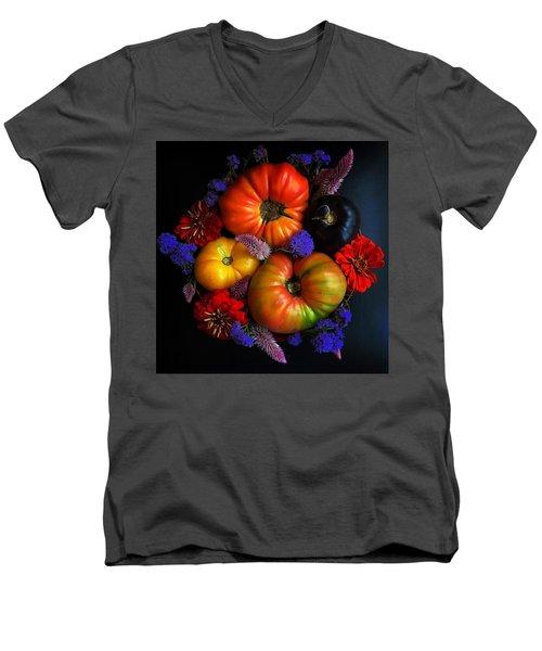 End Of Summer Colors Men's V-Neck T-Shirt