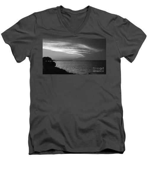Ending The Day On Mobile Bay Men's V-Neck T-Shirt