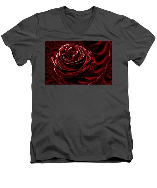 Endless Love Men's V-Neck T-Shirt by Gabriella Weninger - David