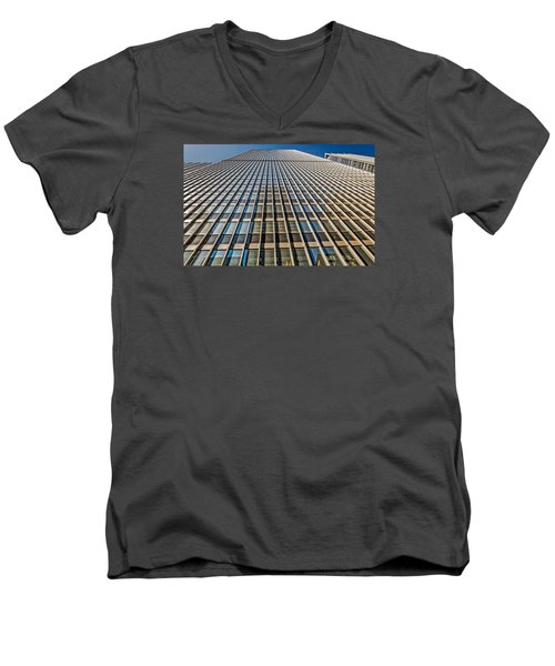 Men's V-Neck T-Shirt featuring the photograph Endless Windows by Sabine Edrissi