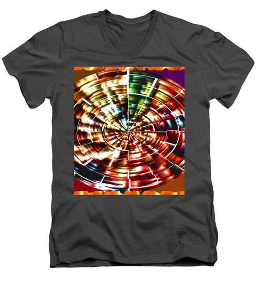 Energy Aura Cleaning Wheel In Motion Yoga Meditation Mandala By Navinjoshi At Fineartamerica.com Men's V-Neck T-Shirt
