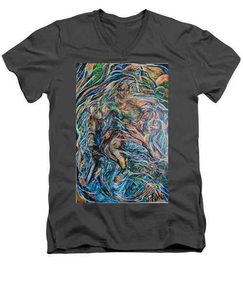 Energy Men's V-Neck T-Shirt by Dawn Fisher