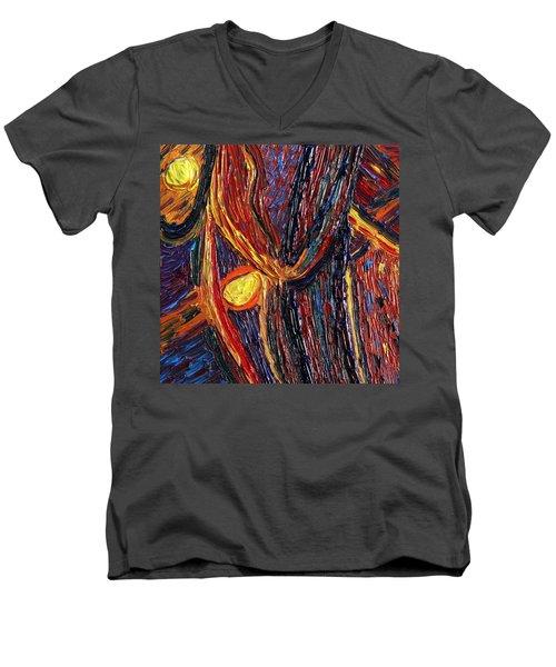 Energy Of Two Men's V-Neck T-Shirt