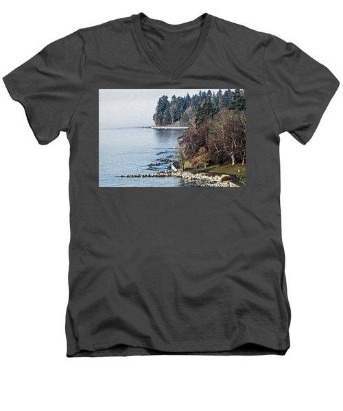 English Bay Shore Men's V-Neck T-Shirt