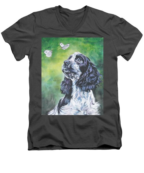 English Cocker Spaniel  Men's V-Neck T-Shirt