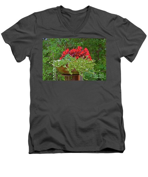 Enjoy The Garden Men's V-Neck T-Shirt