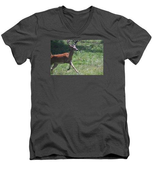 Enjoying A Bright Day Men's V-Neck T-Shirt by Vadim Levin