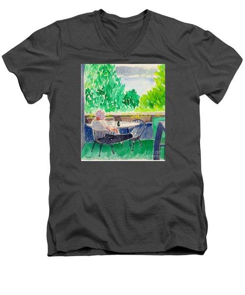 Enjoying The View-detail Men's V-Neck T-Shirt