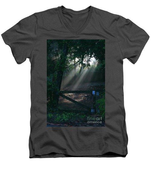 Enlighten Men's V-Neck T-Shirt by Lori Mellen-Pagliaro
