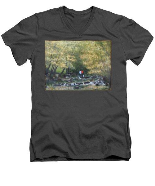 Eno River Afternoon Men's V-Neck T-Shirt