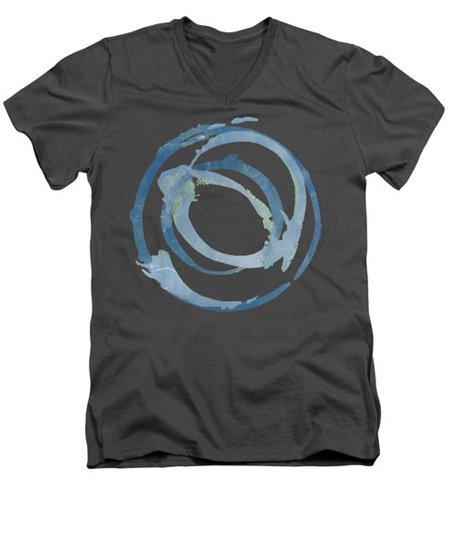 Men's V-Neck T-Shirt featuring the painting Enso T Multi by Julie Niemela