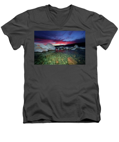 Enter A Tahoe Dream Men's V-Neck T-Shirt