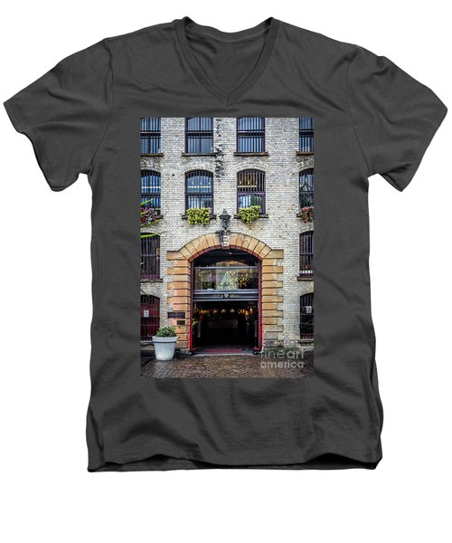Men's V-Neck T-Shirt featuring the photograph Enter by Perry Webster