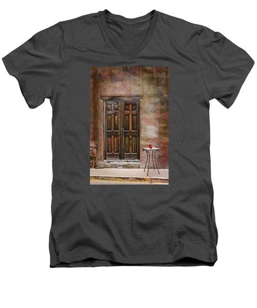 Entering Santa Fe Men's V-Neck T-Shirt