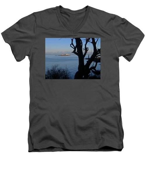 Entrance Island, Bc Men's V-Neck T-Shirt by Anne Havard