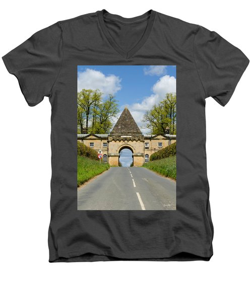 Entrance To Burghley House Men's V-Neck T-Shirt
