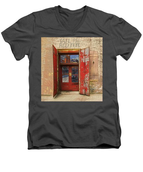 Men's V-Neck T-Shirt featuring the photograph Entry Into The Past by Jeff Burgess