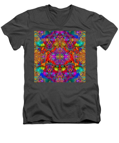 Men's V-Neck T-Shirt featuring the digital art Environmental Protection-  by Robert Orinski