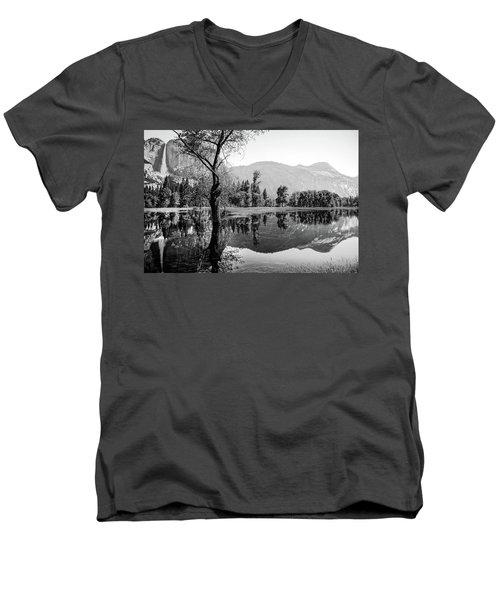 Ephemeral Men's V-Neck T-Shirt by Ryan Weddle
