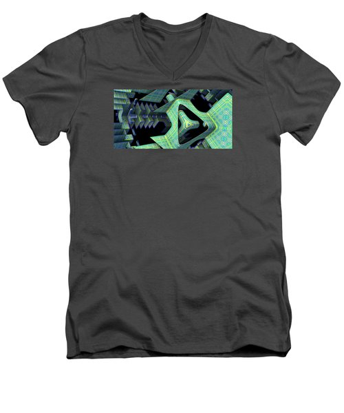 Men's V-Neck T-Shirt featuring the digital art Epic by Lyle Hatch