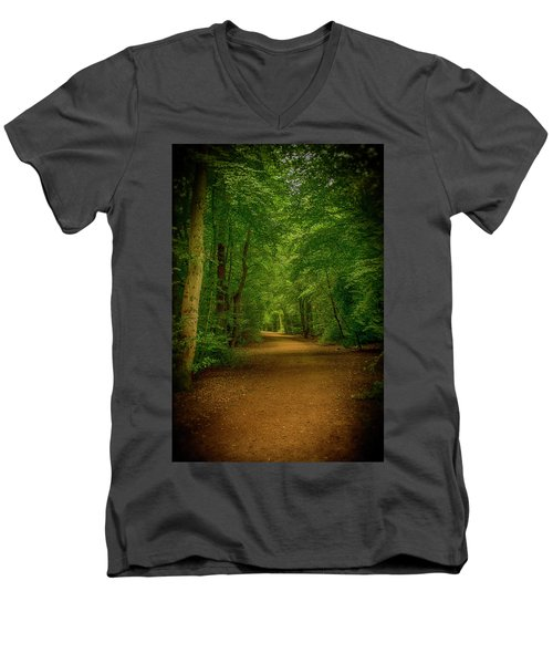 Epping Forest Walk Men's V-Neck T-Shirt by David French