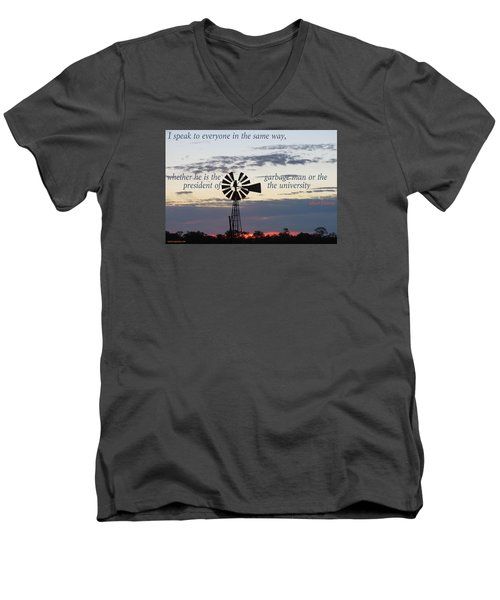 Men's V-Neck T-Shirt featuring the photograph Equal In God's Eye by David Norman