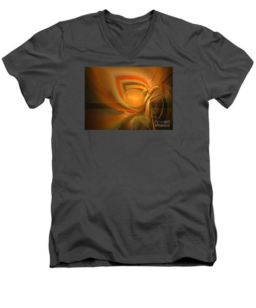 Equilibrium - Abstract Art Men's V-Neck T-Shirt by Sipo Liimatainen