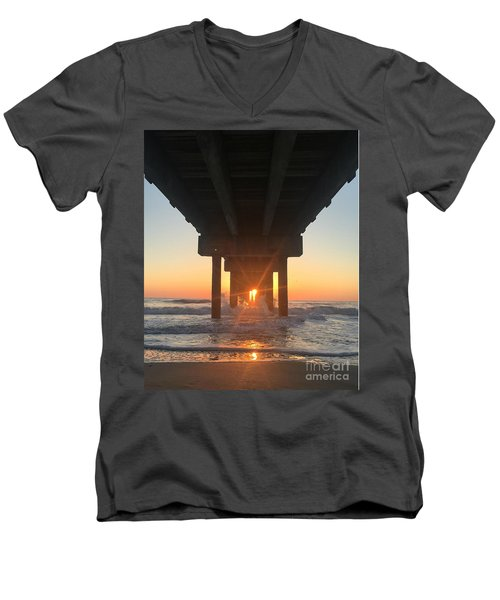 Equinox Line Up Men's V-Neck T-Shirt