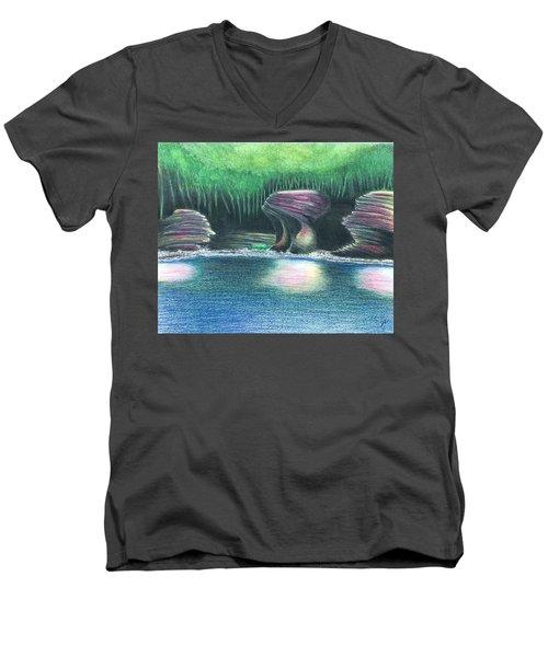 Eroding Away Men's V-Neck T-Shirt by Sotiri Catemis